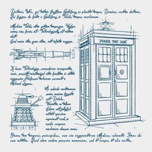 dessin t-shirt Tardis, Daleks et autres… geek original