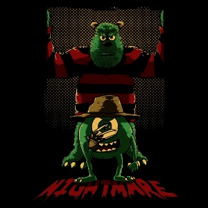 dessin t-shirt Monstres Academy & Freddy Krueger geek original