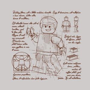 dessin t-shirt Lego brick geek original