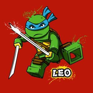 dessin t-shirt Leonardo Lego geek original
