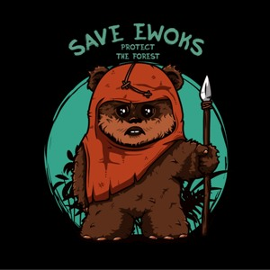 dessin t-shirt Ewok Star Wars geek original