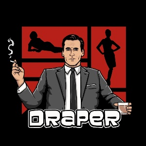 dessin t-shirt Don Draper geek original