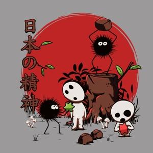 dessin t-shirt Susuwataris et les Kodamas geek original