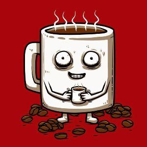 dessin t-shirt Un petit café? geek original