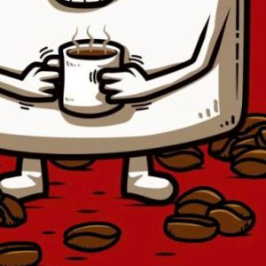 zoom t-shirt Un petit café? geek original