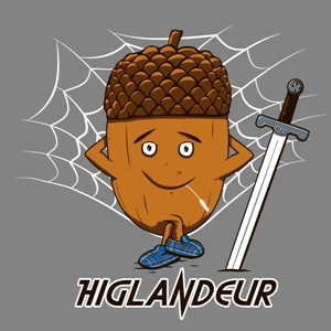 dessin t-shirt Highlander… geek original