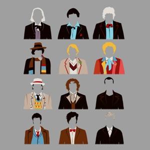 dessin t-shirt 12 Docteurs geek original