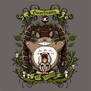 dessin t-shirt Les gardiens de la nature geek original