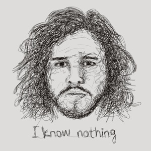 dessin t-shirt Jon Snow geek original