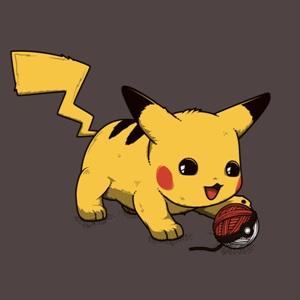 dessin t-shirt Chaton Pikachu geek original