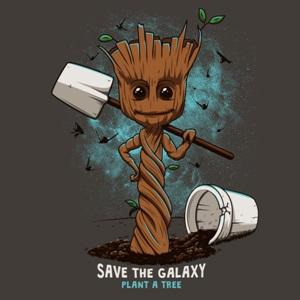 dessin t-shirt Plantez un arbre geek original