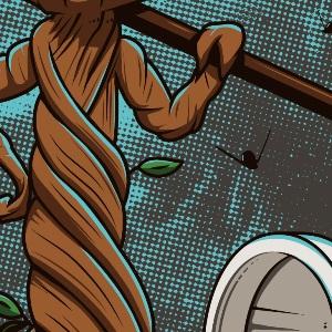 zoom t-shirt Plantez un arbre geek original