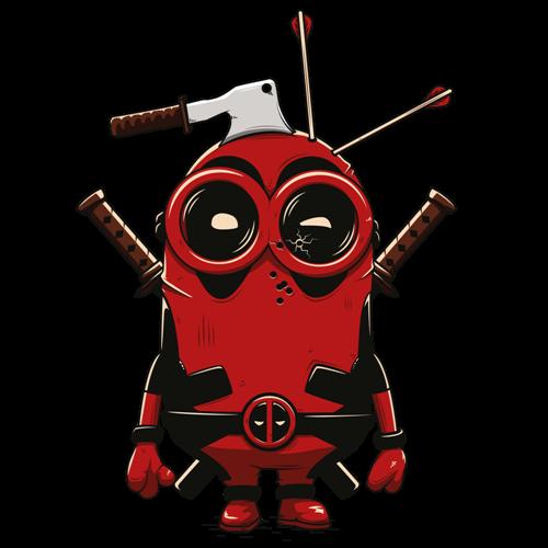 t-shirt Deadpool Minion