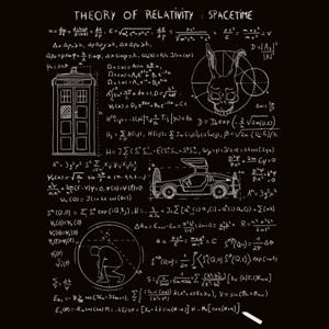 dessin t-shirt Théorie de la relativité geek original