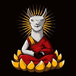 dessin t-shirt Dalaï Lama geek original