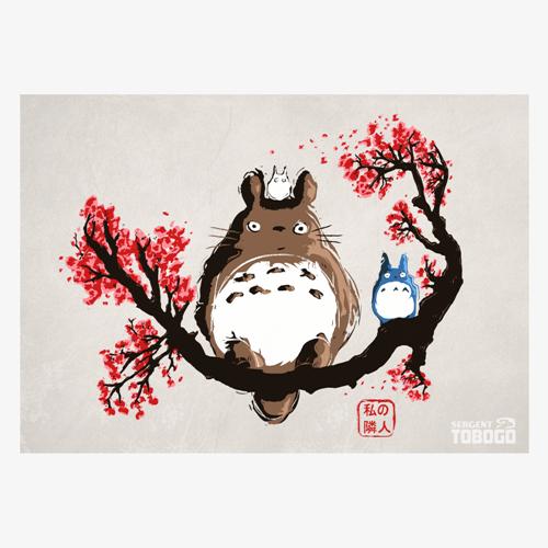 Cerisier carte postale a5 fan art de mon voisin totoro - Cerisier dessin ...