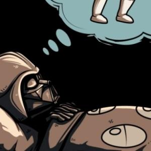 zoom t-shirt Dark Vador sommeil geek original