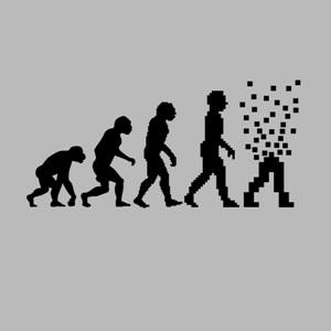 dessin t-shirt L'évolution en pixel geek original