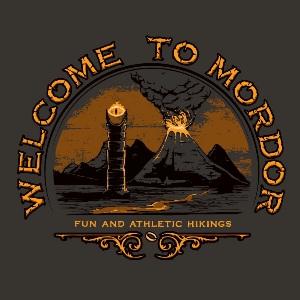 dessin t-shirt Bienvenue au Mordor geek original