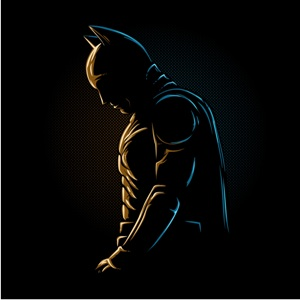 dessin t-shirt Batman in the night geek original