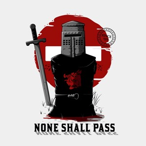 dessin t-shirt None shall pass geek original