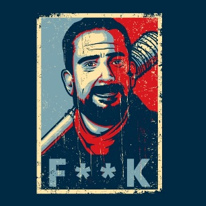 dessin t-shirt Negan F**k geek original