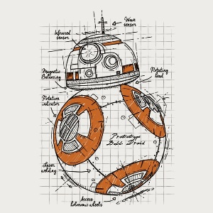 dessin t-shirt BB8 – croquis geek original