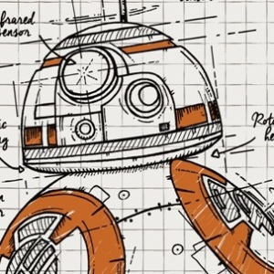 zoom t-shirt BB8 – croquis geek original