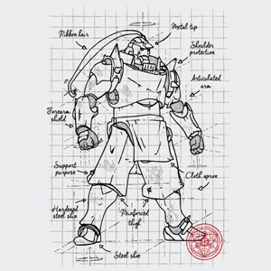 dessin t-shirt Fullmetal plan geek original