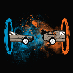 t-shirt Delorean – Back to the Portal