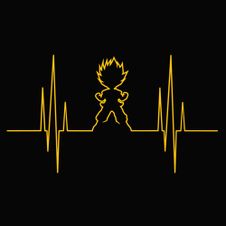 t-shirt Dragon Ball Electro Saiyan