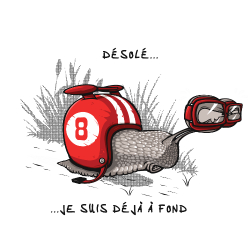 t-shirt Escargot à fond de cale