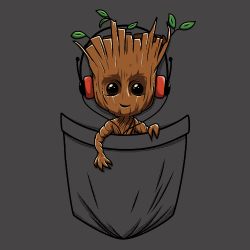 t-shirt Groot pocket