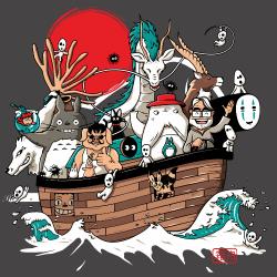 t-shirt L'arche de Miyazaki