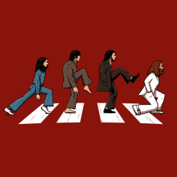 t-shirt Beatles versus Monty Python