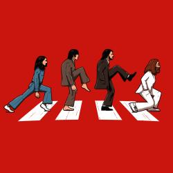 t-shirt Beatles et Monty Python