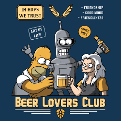 t-shirt Beer lovers club