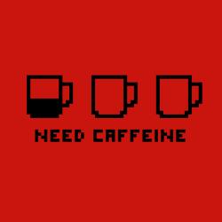 t-shirt Besoin de caféine