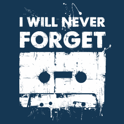 t-shirt Cassette audio nostalgeek