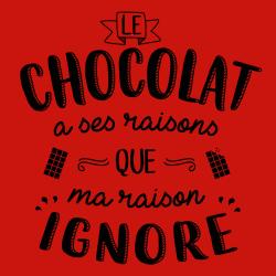 t-shirt Le chocolat a ses raisons…