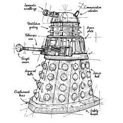 t-shirt Dalek plan