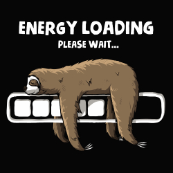 t-shirt Paresseux : Energy loading
