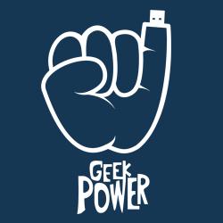 t-shirt Geek Power