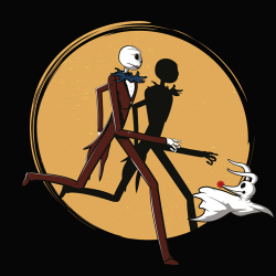 t-shirt Jack Skellington & Zero
