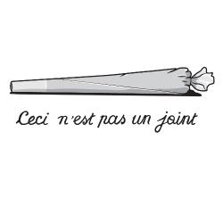 t-shirt Ceci n'est pas un joint