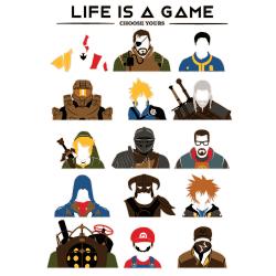 t-shirt La vie est un jeu vidéo