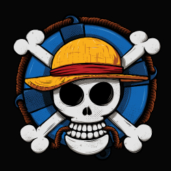 t-shirt One Piece logo art