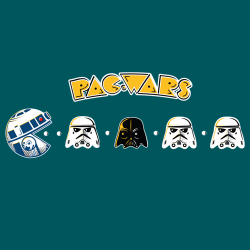 t-shirt Star Wars version Pac Man