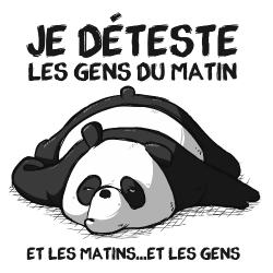t-shirt Panda pas du matin