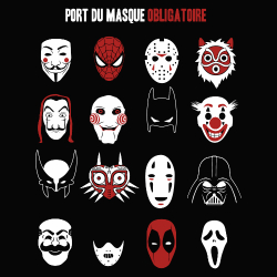 t-shirt Port du masque obligatoire